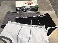 5шт в ПОДАРОЧНОМ НАБОРЕ  Мужские трусы БОКСЕРЫ Calvin Klein ONE (Кельвин) мини-шорты на широкой резинке Хлопок