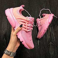 Женские кроссовки Nike Air Presto Ultra BR pink. Живое фото (Реплика ААА+)