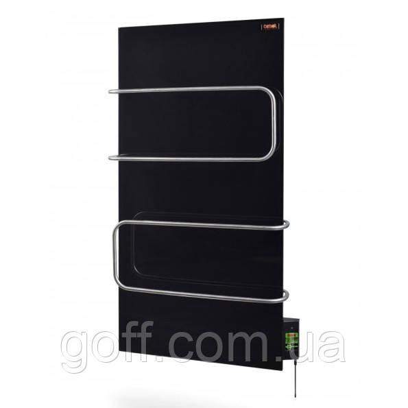 Стекло–керамический полотенцесушитель Dimol Maxi 07 с терморегулятором (черный)