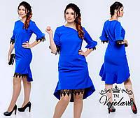Женское платье большой размер Кармен (разные цвета)