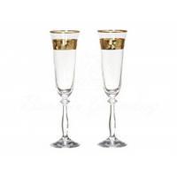 Набор бокалов для шампанского 190 мл Bohemia Angela 2шт (Q8184/2) 172141 /П1