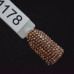 Стразы бронзовые, SS3, 100 шт в упаковке