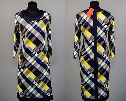 """Стильное женское платье ткань """"Французский трикотаж"""" 50, 52 размер батал, фото 2"""