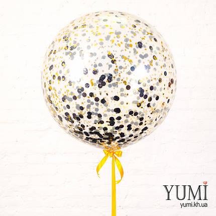 Гелиевый шар-гигант с конфетти на праздник, фото 2