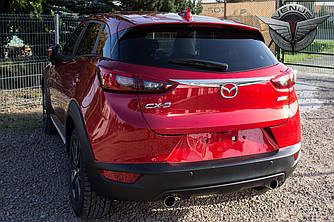 Хром накладка молдинг на багажник Mazda CX-3