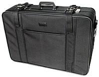 Деловой чемодан, кейс бизнес класса на колесах 72л. Paso, Польша, W974 черный
