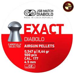 Кулі JSB Diabolo EXACT 4,50 mm.,4.53 mm 500шт. 0,547 р.