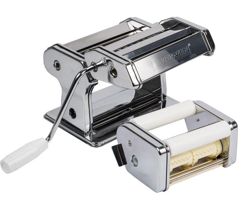 Лапшерезка-тестораскатка с насадкой для равиоли BIOWIN (Польша)
