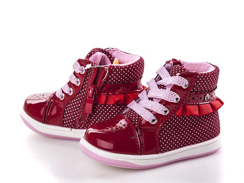 Ботинки для девочек, красные, Clibee