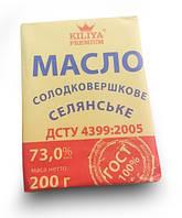 "Масло сливочное ГОСТ тм ""Kiliya Premium"" 200г.   73% жирности"