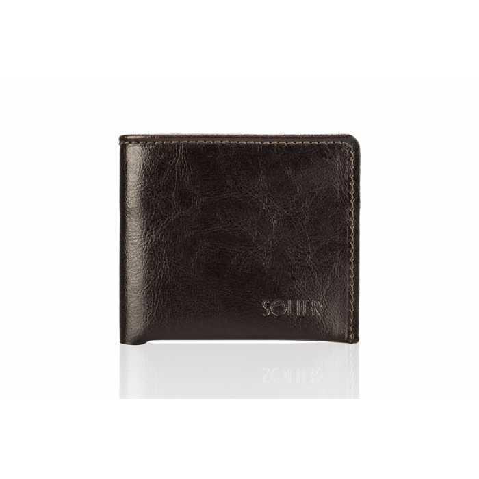 Мужской бумажник SW05b Коричневый