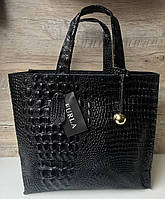 Женская кожаная сумка рептилия  FURLA