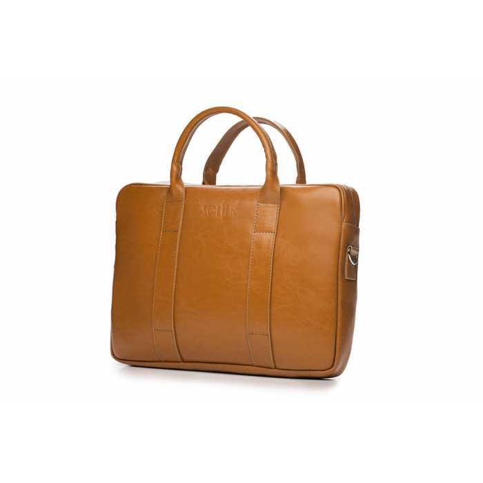 Кожаная сумка на ремне для ноутбука Camel SL20