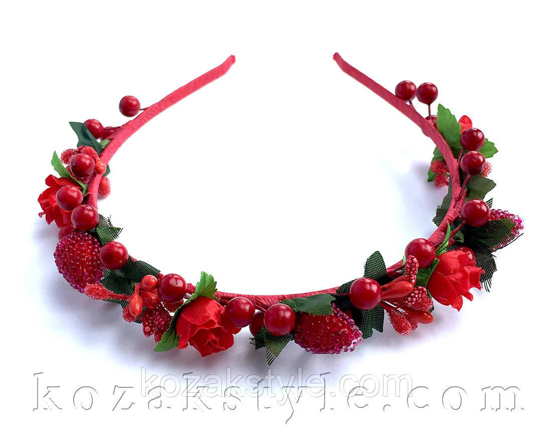 """Обруч """"Троянди та ягоди"""" (малий)"""