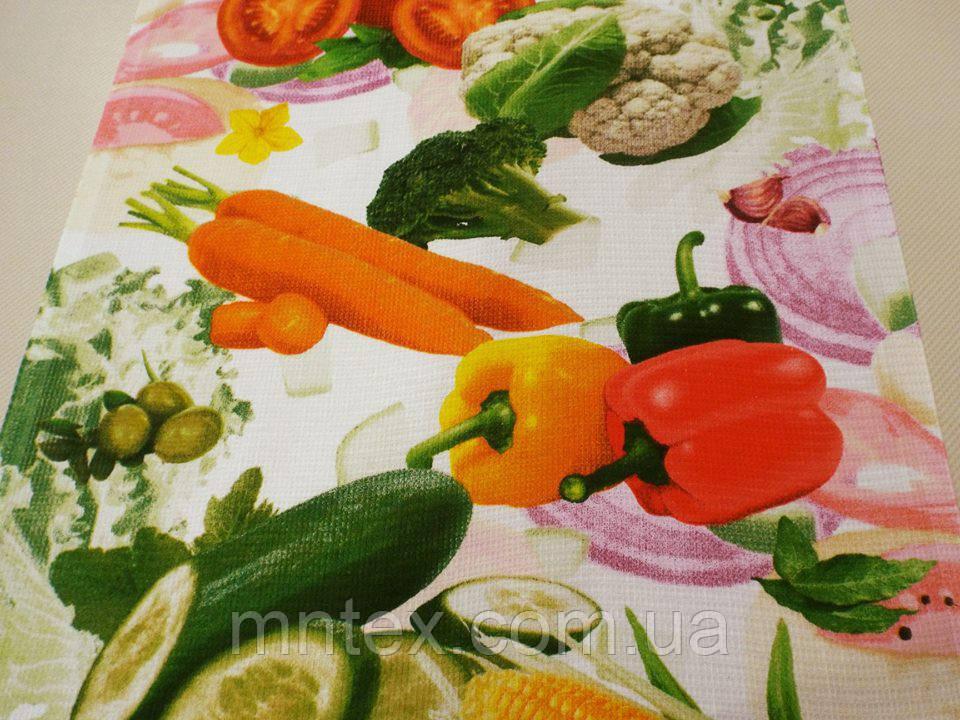 """Ткань вафельная ширина 50 см Овощи / """"Чарівна Ніч"""""""
