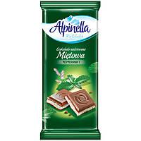 Шоколад Alpinella Peppermint мята 90 грамм