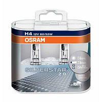 Комплект галогенных ламп Osram Silverstar 2.0 64193SV2-HCB-DUO H4 12V 60/55W P43t Hard DuoPET