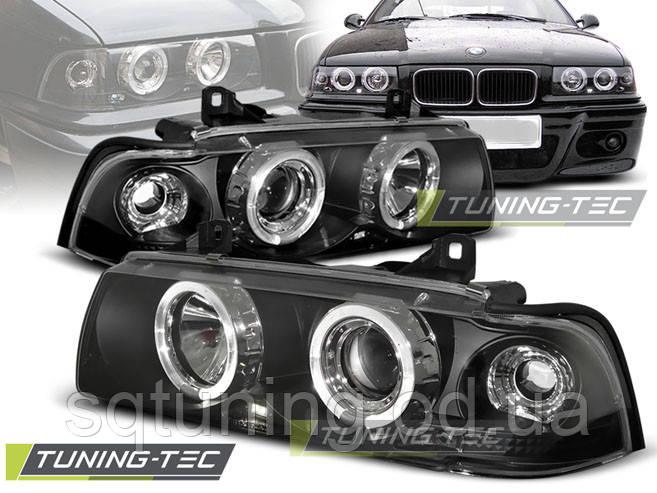 Фари BMW E36 ANGEL EYES BLACK