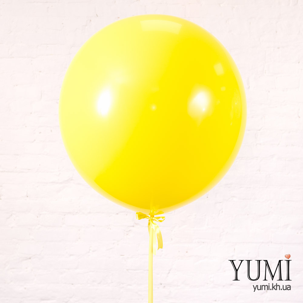 Яркий жёлтый шар-гигант с гелием
