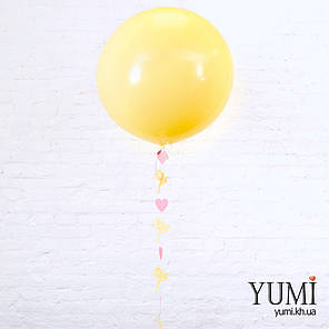 Нежный гелиевый шар-гигант с гирляндой для девочки, фото 2