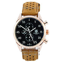 Часы мужские наручные TAG Heuer Carrera 1887 SpaceX Mechanic Gold/Black-Orange