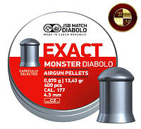 Пули JSB Diabolo EXACT MONSTER 4,52mm. 400шт. 0,870г.