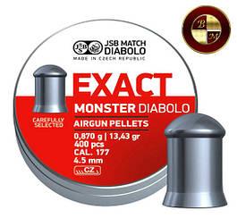 Кулі JSB Diabolo EXACT MONSTER 4,52 mm. 400шт. 0,870 р.