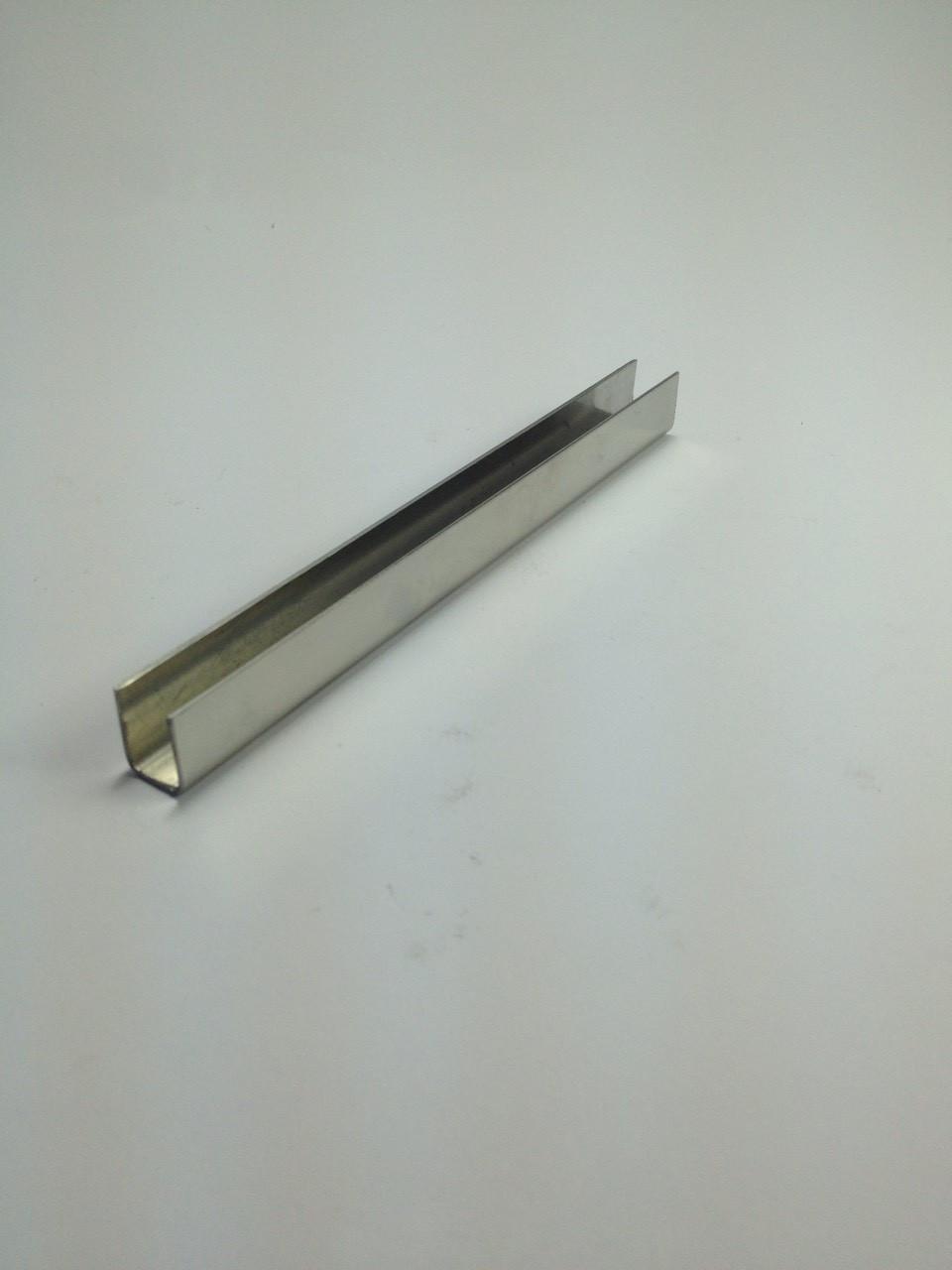 ODF-04-01-01-L2500 (сатин) Профиль из нержавейки 11*15 для душевых кабин под стекло 8 мм