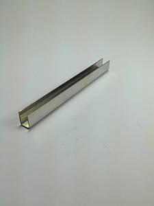 ODF-04-08-01-L2500 (сатинированный) Профиль из нержавейки 13*17  под стекло 10 мм
