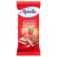 Шоколад Альпинелла  Alpinella молочный Клубника 90г (Польша) - АЛЬПИНЕЛЛА TRUSKAWKOWA