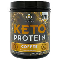 Ancient Nutrition, Keto Protein, Ketogenic Performance Fuel, Coffee, 19.2 oz (545 g)
