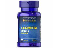 Жиросжигатель Puritan's Pride L-Carnitine 500 mg 60 теблеток