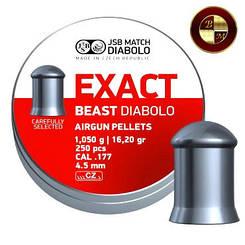 Кулі JSB Diabolo EXACT BEAST 4,52 mm. 250шт. 1,050 р.