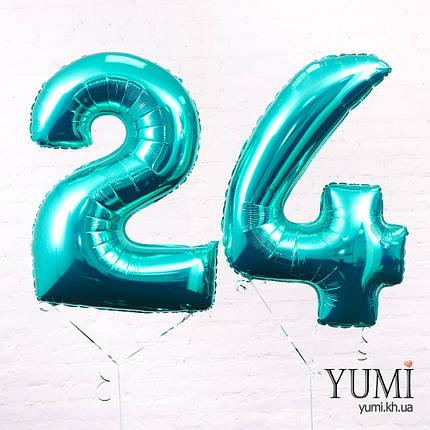 Фольгированная цифра 24 Тиффани, фото 2