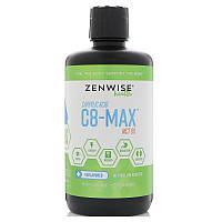 Zenwise Health, C8-MAX, каприловая кислота, масло со среднецепочечными триглицеридами, ускорение метаболизма, без ароматизаторов, 32 ж. унц. (946 мл)