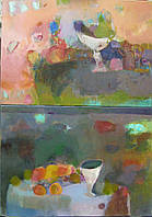 """Картины (диптих) """"Из жизни груш и персиков"""""""