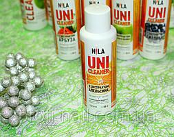 Жидкость для снятия гель-лака Nila Uni-Cleaner (апельсин) 100 мл.