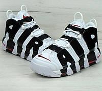 """Кроссовки Nike Air More Uptempo """"White black"""". Живое фото (Реплика ААА+)"""