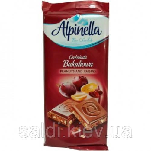 Шоколад Alpinella Альпинелла (изюм и орех)
