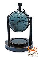 Часы в кабинет бронзовые с компасом, фото 1