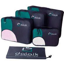 Дорожный набор 5 сумок органайзеров для одежды Dalaik зелёный