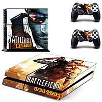 Скины для Sony Рlaystation 4 + 2 геймпада Batterfield (Винил)