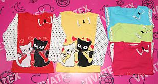 Блузка для девочки Кошечка 1304 интерлок