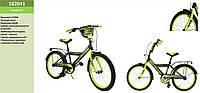Велосипед 2-х колес 20'' 182041 со звонком,зеркалом,руч.тормоз,без доп.колес