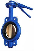 Затвор дисковый поворотный чугунный Баттерфляй, никелированный диск, DN 50, Py 16, Вес, кг 2,1
