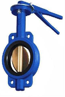 Затвор дисковый поворотный чугунный Баттерфляй, никелированный диск, DN 100, Py 16, Вес, кг 3,9