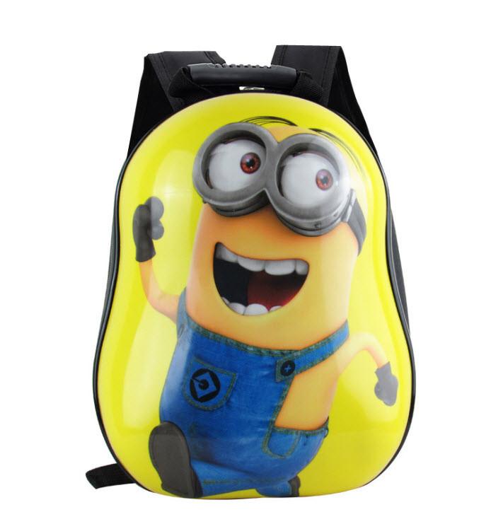 Твердые детские рюкзаки с принтами  3D Миньоны (Minions)