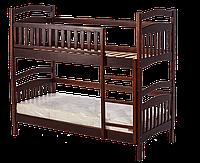 Двухъярусная кровать трансформер из массива ольхи  Софи, Room  темный орех