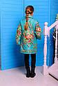 Куртка весенняя на девочку Дольче, Размеры 32 цвет бирюза, фото 5