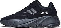 """Мужские кроссовки Adidas Yeezy Boost 700 """"Wave Runner"""" Black (Адидас Изи Буст 700) черные"""